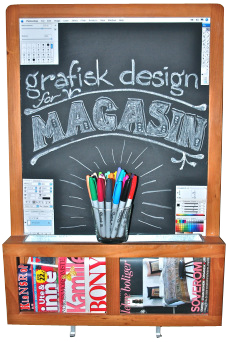 Grafisk design for magasin
