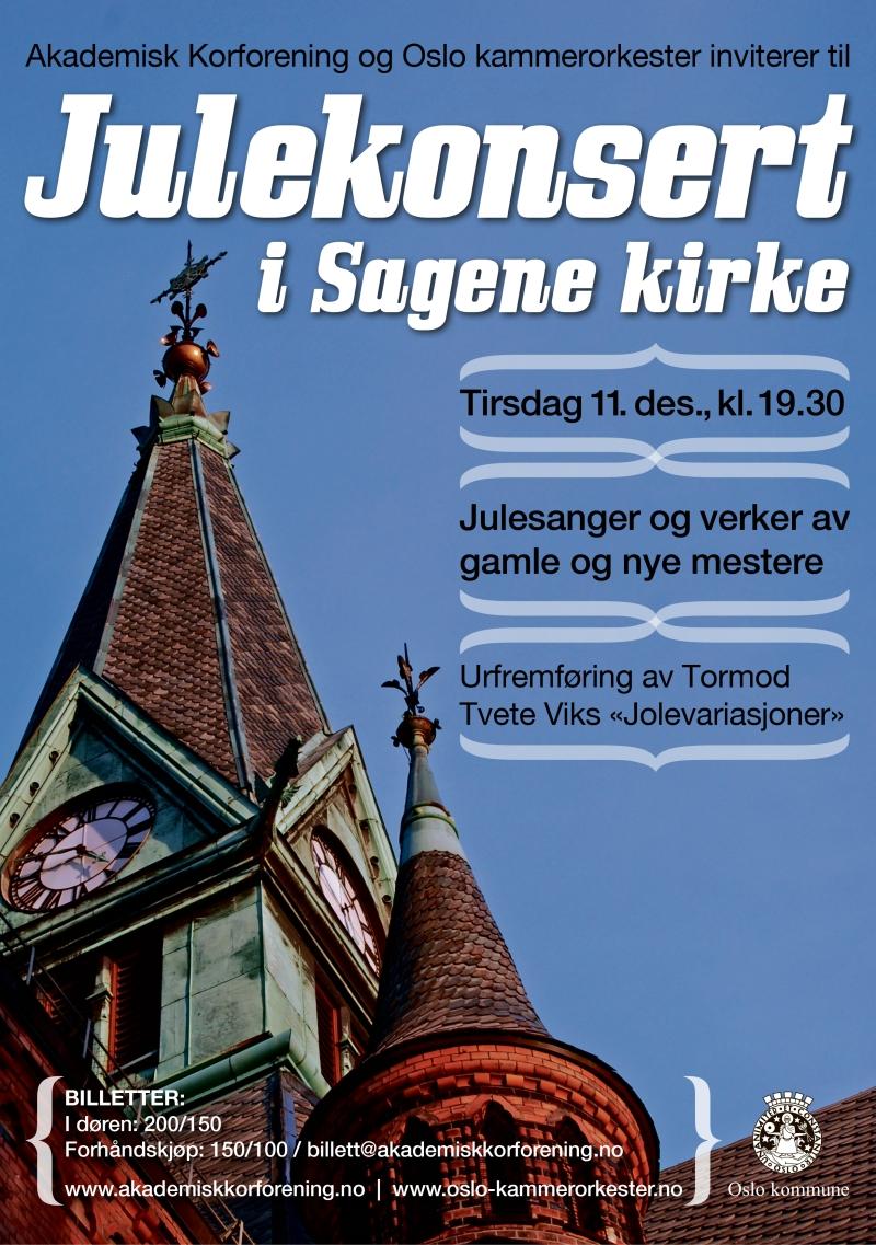 OKO konsertplakat – julekonsert 2012