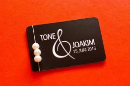 Bryllupsinvitasjon –Tone og Joakim