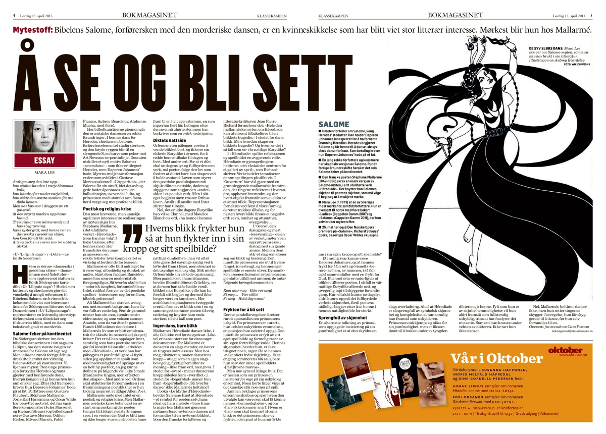 Bokmagasinet i Klassekampen 13. april 2013