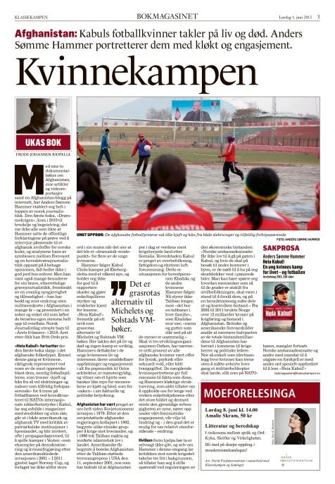 Bokmagasinet i Klassekampen 1. juni 2013
